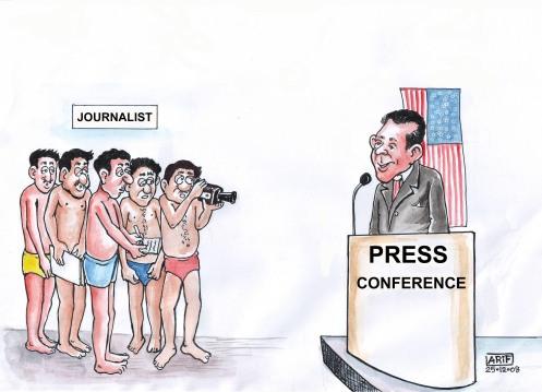 press-confarence of BUSH